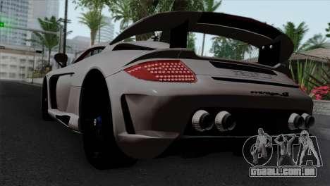 Gemballa Mirage GT v1 Windows Down para GTA San Andreas esquerda vista