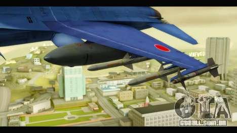 Mitsubishi F-2A JASDF Blue v2.0 para GTA San Andreas vista direita