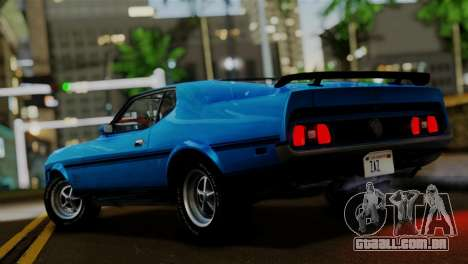 Ford Mustang Mach 1 429 Cobra Jet 1971 FIV АПП para GTA San Andreas esquerda vista