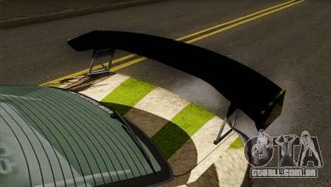 Nissan Silvia S15 Hunter para GTA San Andreas vista traseira