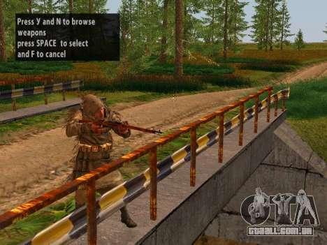 Soviética Sniper para GTA San Andreas segunda tela