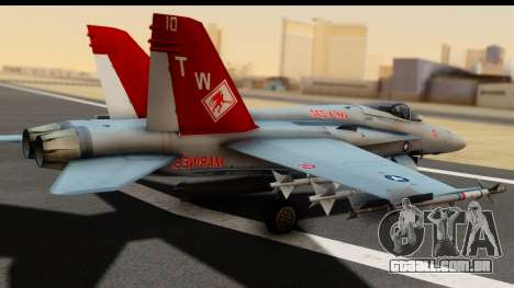 McDonnell Douglas FA-18C Hornet VMFA-232 USMC para GTA San Andreas esquerda vista