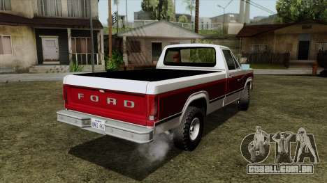 Ford F-150 1982 Final para GTA San Andreas esquerda vista