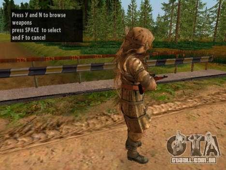 Soviética Sniper para GTA San Andreas terceira tela
