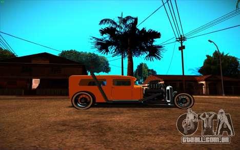 Ford Model A Hot-Rod para GTA San Andreas traseira esquerda vista