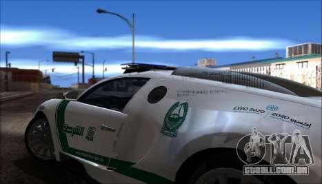 Bugatti Veyron 16.4 Dubai Polícia De 2009 para GTA San Andreas vista direita
