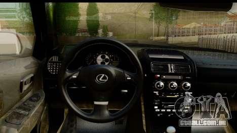 Lexus IS300 Tunable para GTA San Andreas vista interior