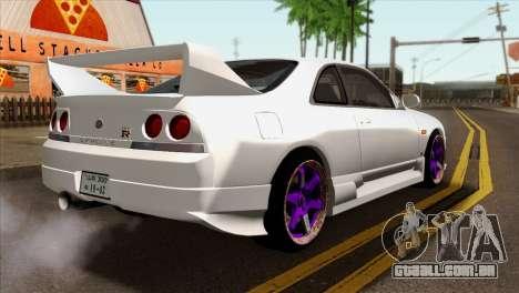 Nissan Skyline R33 Drift JDM para GTA San Andreas esquerda vista