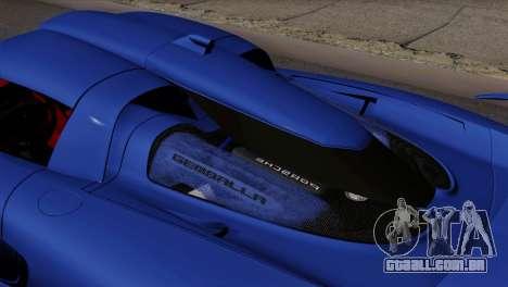 Gemballa Mirage GT v1 Windows Up para GTA San Andreas traseira esquerda vista