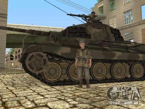 Panzerkampfwagen Tiger II para GTA San Andreas vista interior