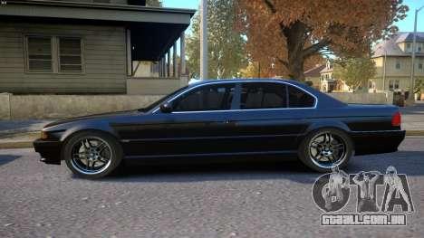 BMW 750i e38 1994 Final para GTA 4 esquerda vista