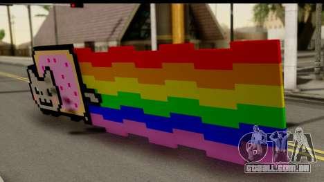 Nyan Cat para GTA San Andreas esquerda vista