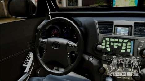 Toyota Hilux SW4 2014 ROTA para GTA San Andreas traseira esquerda vista