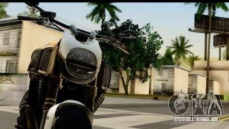 Ducati Diavel 2012 para GTA San Andreas vista traseira