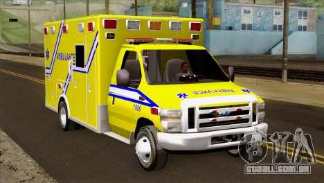 Ford F-450 2014 Quebec Ambulance para GTA San Andreas
