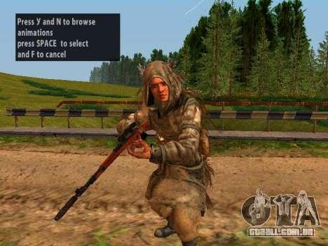 Soviética Sniper para GTA San Andreas por diante tela