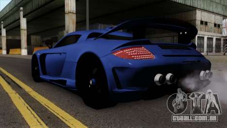 Gemballa Mirage GT v1 Windows Up para GTA San Andreas esquerda vista