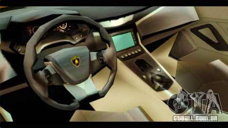Lamborghini Estoque para GTA San Andreas vista direita