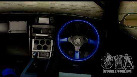 Nissan Skyline GT-R BNR34 Mio Akiyama Itasha para GTA San Andreas vista interior