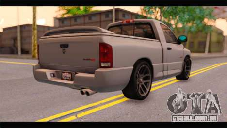 Dodge Ram SRT10 2006 Stock para GTA San Andreas esquerda vista