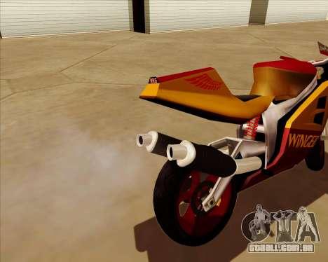NRG-500 Winged Edition V.2 para GTA San Andreas vista inferior