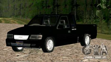 ISUZU Dragon Power para GTA San Andreas vista traseira
