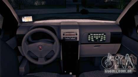 Fiat Siena 2011 para GTA San Andreas traseira esquerda vista