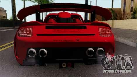 Gemballa Mirage GT v3 Windows Down para GTA San Andreas vista traseira