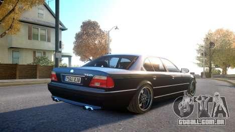 BMW 750i e38 1994 Final para GTA 4 vista direita