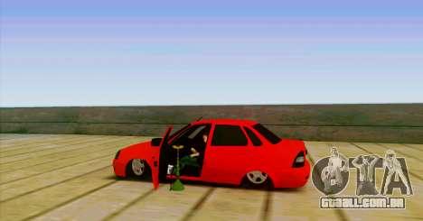 VAZ 2170 O БПАN para GTA San Andreas esquerda vista
