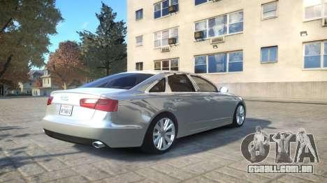 Audi A6 2012 v1.0 para GTA 4 vista de volta
