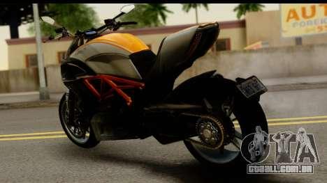 Ducati Diavel 2012 para GTA San Andreas esquerda vista
