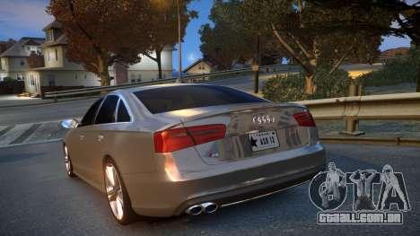 Audi S6 v1.0 2013 para GTA 4 traseira esquerda vista