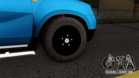 Dacia Duster Van para GTA San Andreas traseira esquerda vista