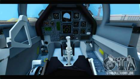 Beechcraft T-6 Texan II US Air Force 4 para GTA San Andreas vista traseira