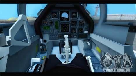 Beechcraft T-6 Texan II US Air Force 4 para GTA San Andreas vista traseira