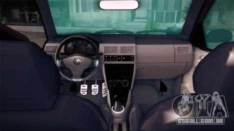 Volkswagen Gol GTI para GTA San Andreas traseira esquerda vista