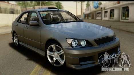 Lexus IS300 Tunable para GTA San Andreas vista superior