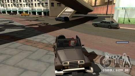 Novo tom, sem perder FPS para GTA San Andreas