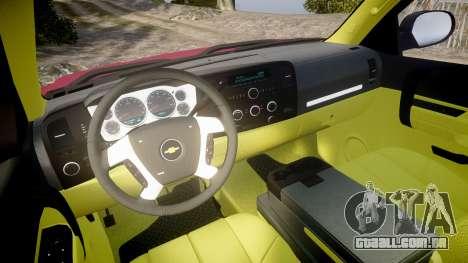 Chevrolet Silverado 1500 LT Extended Cab wheels1 para GTA 4 vista de volta