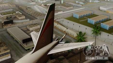 Boeing KC-767 Aeronautica Militare para GTA San Andreas traseira esquerda vista