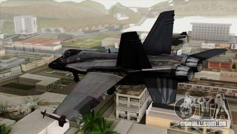 FA-18 HARV para GTA San Andreas esquerda vista