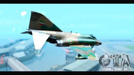 McDonnell Douglas F-4 IRIAF para GTA San Andreas esquerda vista