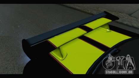 Nissan Skyline R34 BudMat para GTA San Andreas vista traseira