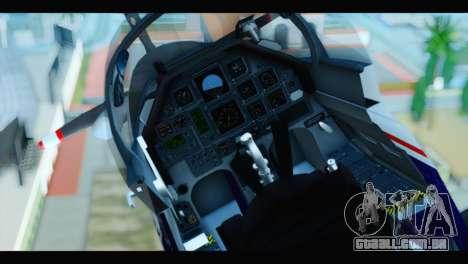 Beechcraft T-6 Texan II US Air Force 2 para GTA San Andreas vista traseira