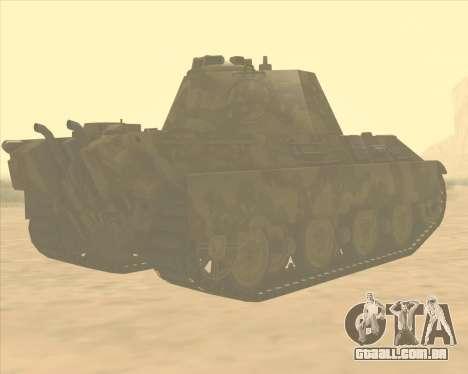 Pz.Kpfw. V Panther II Desert Camo para GTA San Andreas vista direita