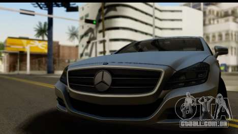 Mercedes-Benz CLS 350 2011 para GTA San Andreas traseira esquerda vista