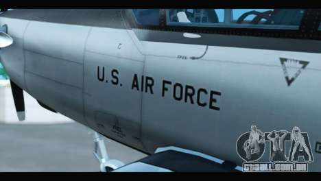 Beechcraft T-6 Texan II US Air Force 3 para GTA San Andreas vista direita