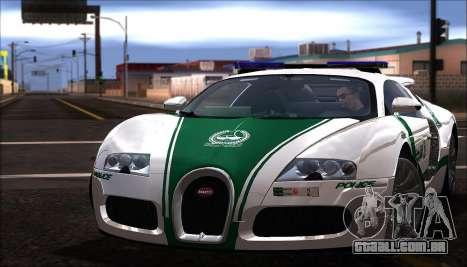 Bugatti Veyron 16.4 Dubai Polícia De 2009 para GTA San Andreas