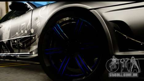 Nissan Skyline GT-R BNR34 Mio Akiyama Itasha para GTA San Andreas vista traseira